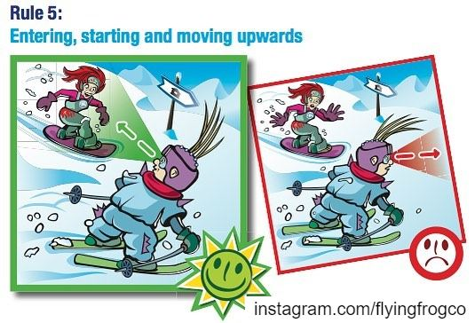 Rule 5: Entering, starting and moving upwardsA skier or snowboarder...