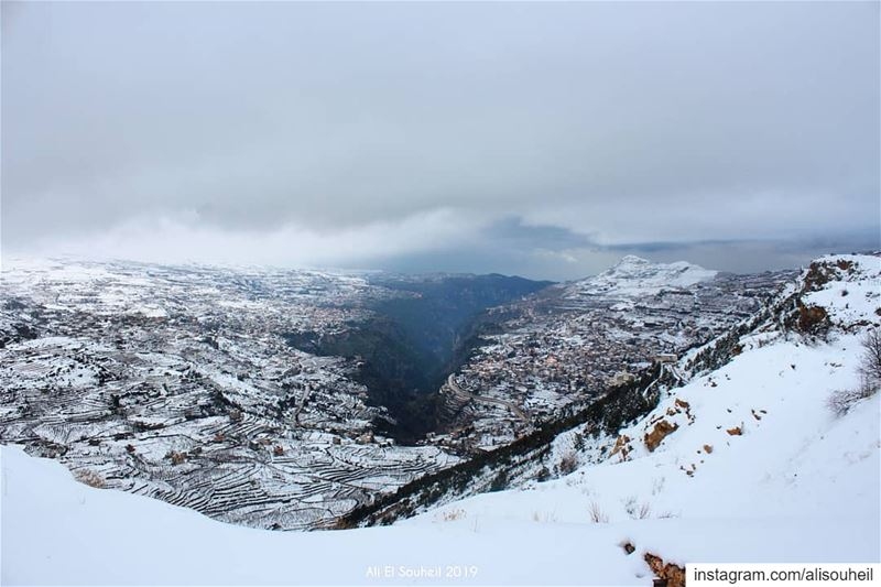 tb  alarez  cedars  kadisha  valley  snow  winter  clouds  mountains ... (Kadisha Valley)