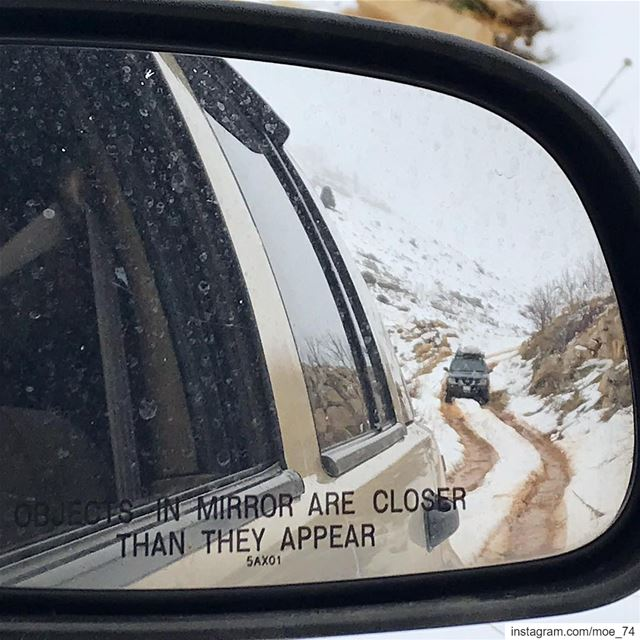 ⚠️Objects in mirror are closer than they appear ⚠️ lebanon  lebanese ... (Aaqoura, Mont-Liban, Lebanon)