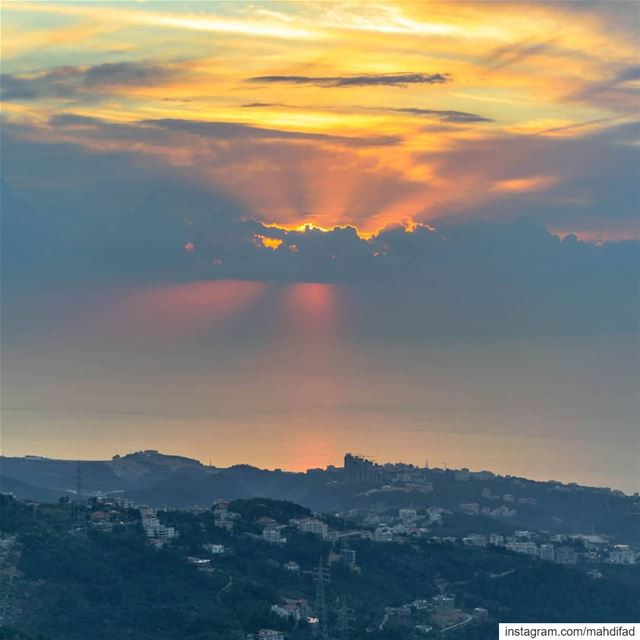 Sunset Beirut clouds mountains lebanon aunraus Pysglb Nature Landscape... (Kayfun, Mont-Liban, Lebanon)