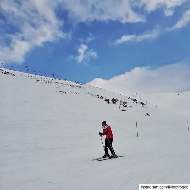 Enjoying skiing and the beautiful mountains!..... flyingfrog ... (Mzaar Ski Resort Kfardebian)