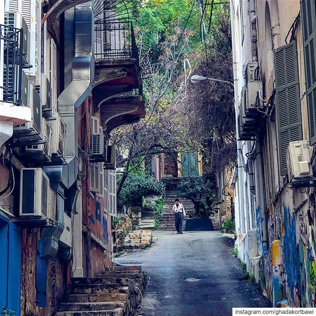 Once upon a time........ oldman  afternoonwalk  street ... (Beirut, Lebanon)