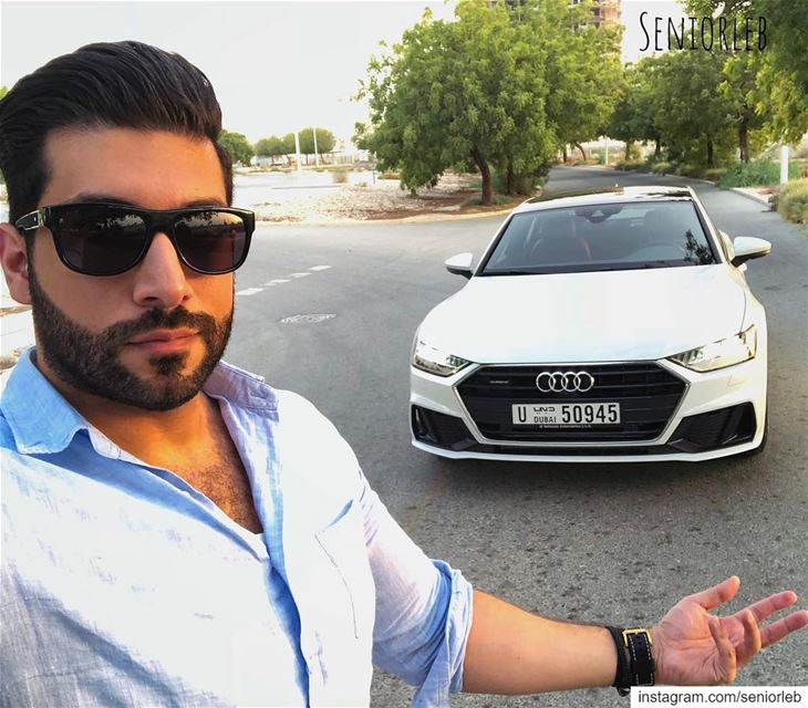 I love the new AUDI A7 ✔️✔️———————————————————————— @seniorleb @audi @audim (Dubai, United Arab Emirates)