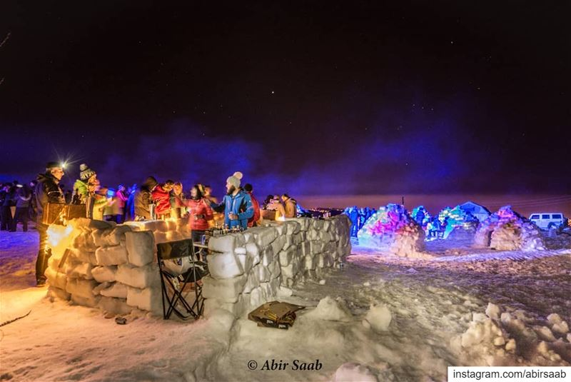 Weekend vibes.. Igloo camp with a natural ice bar ... lebanon  igloo ...