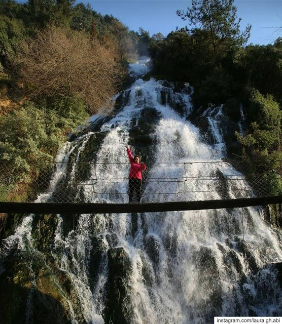 Take a deep breath and continue  forward  hikingadventures  hiking... (Ouyoun El Samak Waterfalls)