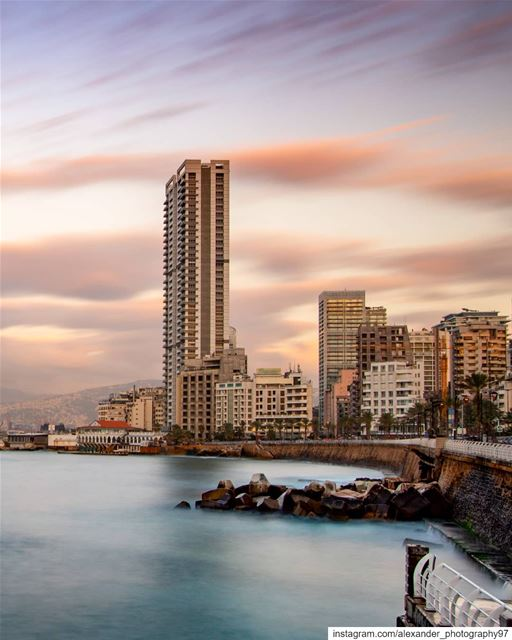 The golden hour - a calm sunset in a busy city - Beirut 🌇🌇... (Beirut, Lebanon)