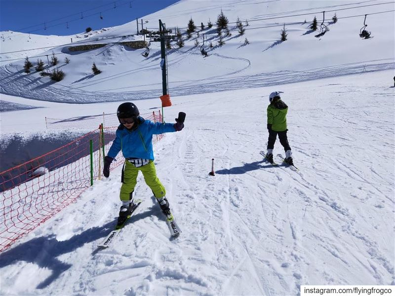 It's all about doing your best during your lesson!..... flyingfrog ... (Mzaar Ski Resort Kfardebian)