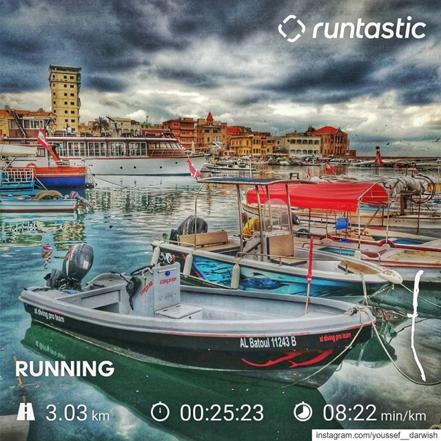 adidas  run  runtastic  tyre  port  boat  sea  sport ... (مدينة صور - Tyre City)