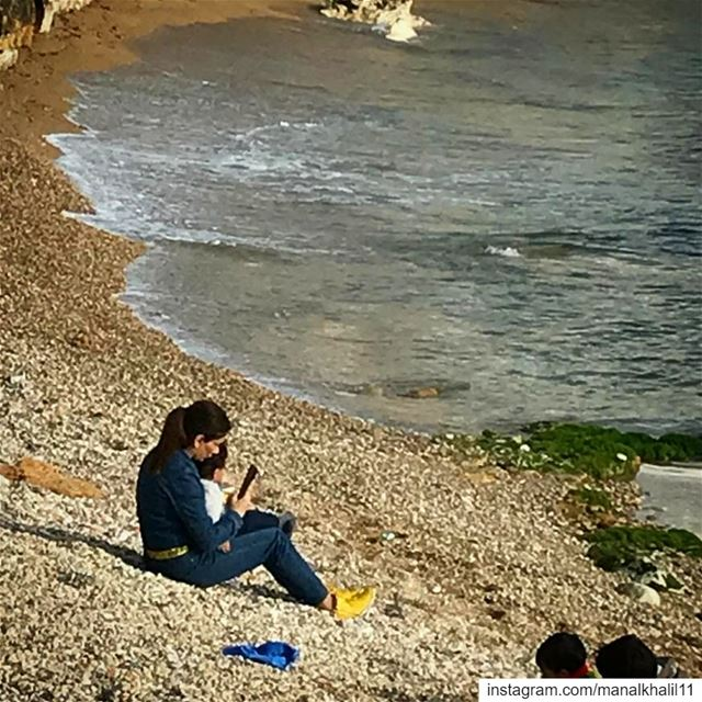babyilai  love  dayout  beach  sea  afternoon  lebanon  waves ...