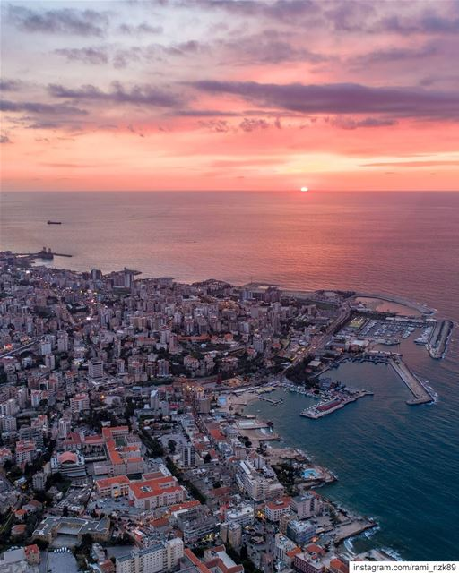 Good evening Jounieh 🌇.. .  jounieh  lebanon  dji  drones  quadcopter ... (Joünié)