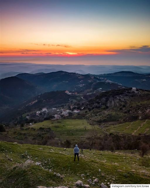 Still chasing  sunsets ...This time from the hills of Jezzine overlooking... (Jezzîne, Al Janub, Lebanon)