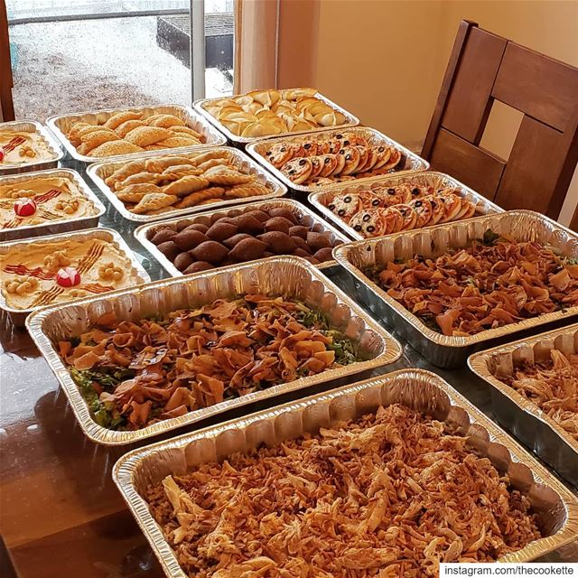 Catering à la libanaise by Mom 🇱🇧❌For all your catering needs call 514-9 (Greater Montreal)