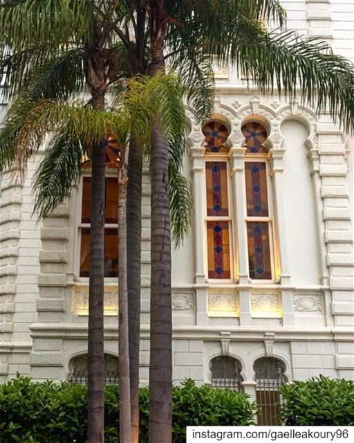 Good morning 🌴☀️ architecture  windows  facade  archilovers  street ... (Sursock Museum)