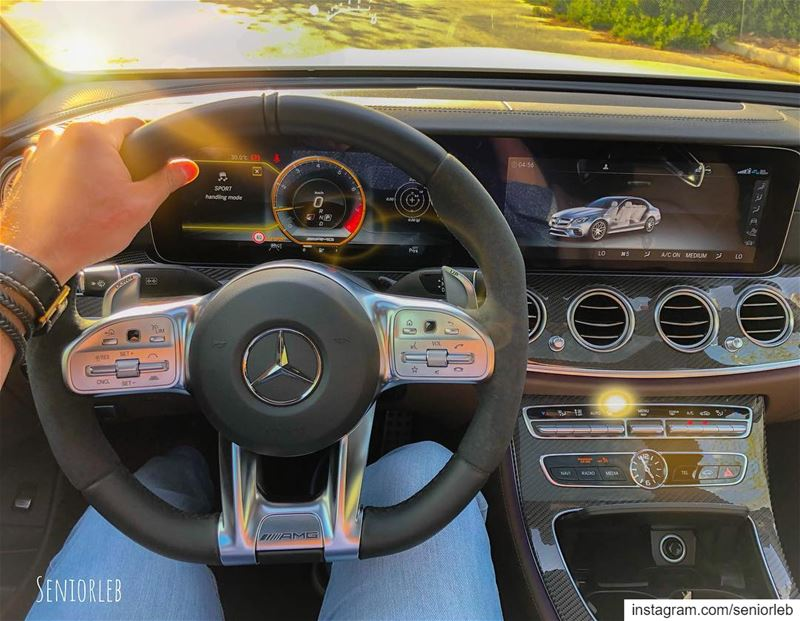 This is one of my favorite steering wheels on any car. The AMG nailed it... (Dubai, United Arab Emirates)