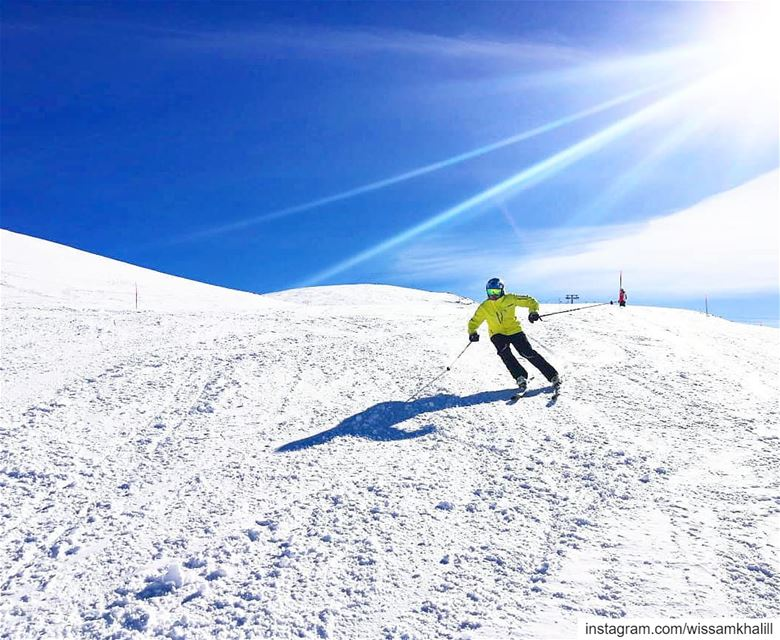 Can't get enough ⛷️ skilovers  farayalovers ... (Mzaar Ski Resort)