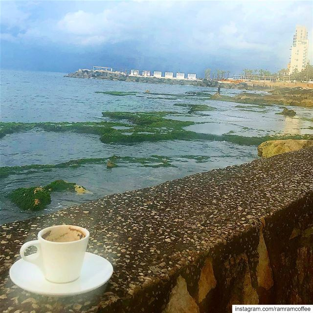Enjoy coffee with lovely weather ☁️☕️... ramramcoffee  turkishcoffee ... (Manara Palace Café)