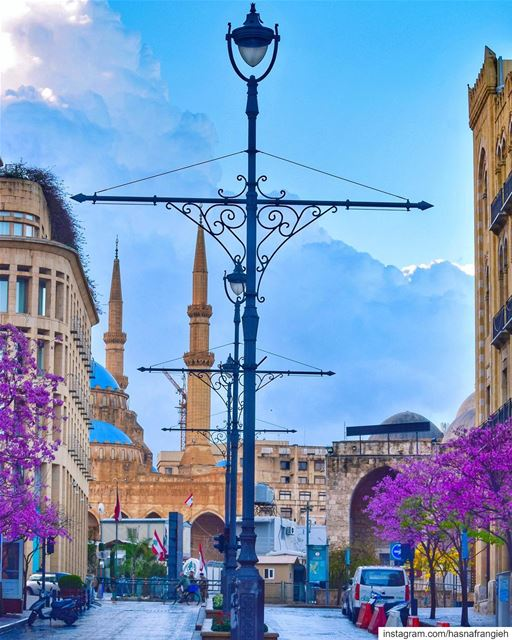 The morning sun shines brighter after a rainy night & so does  Beirut in... (Beirut, Lebanon)