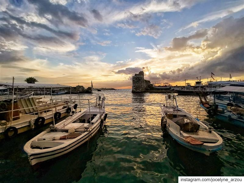 life, if well lived is long enough... time  wellspent  sunsetmood ... (Byblos, Lebanon)