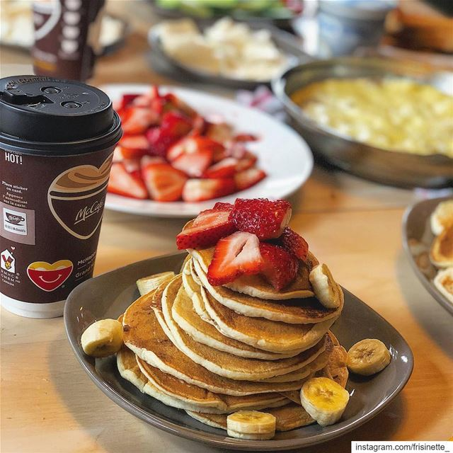 Gd Morning 🥰 .. pancakemorning 🥞🍴 internationalbreakfast  breakfast ... (Sainte-Agathe-des-Monts, Quebec)