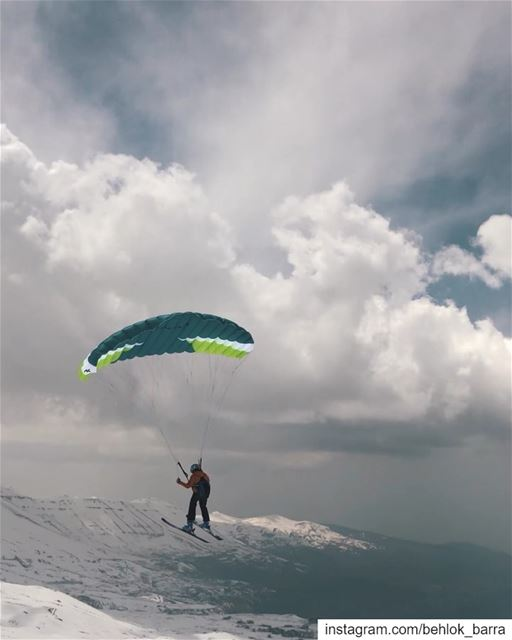 Up above the Cedars..@niviukparagliders  speedriding ... (Cedars of God)