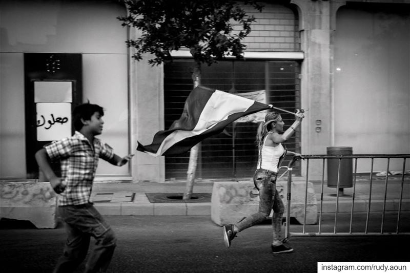 During the you stink protests in beirut 2015love  photography  lebanon ... (Beirut, Lebanon)