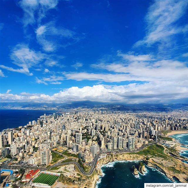 YOU'RE AS FINE AS SUNSHINE! beirut  city  lebanon  fromthesky ... (Beirut, Lebanon)