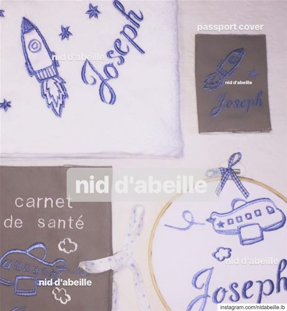 Reach for the sky 💙 newborn set ✈️ Write it on fabric by nid d'abeille ...