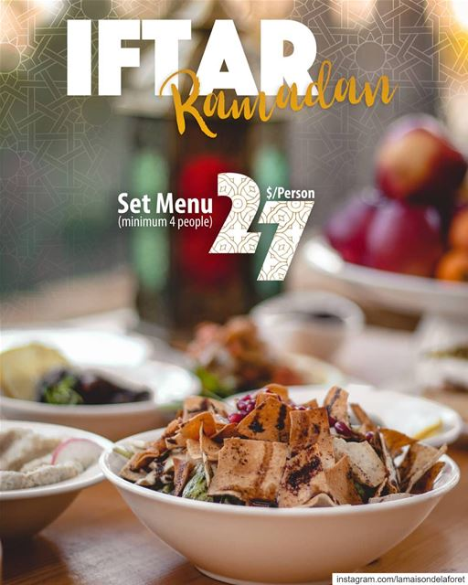 This holy month, savor a mouthwatering  Iftar with  Ramadan specialties...