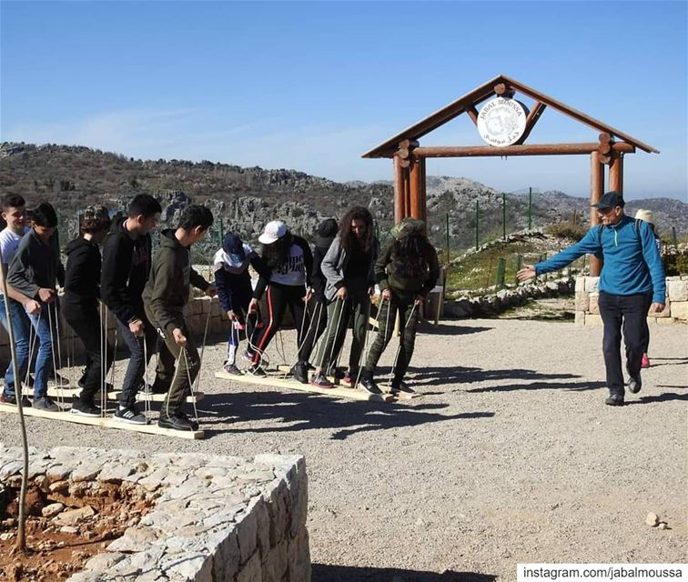 Up for some fun team building activities before your hike in  JabalMoussa?... (Jabal Moussa Biosphere Reserve)