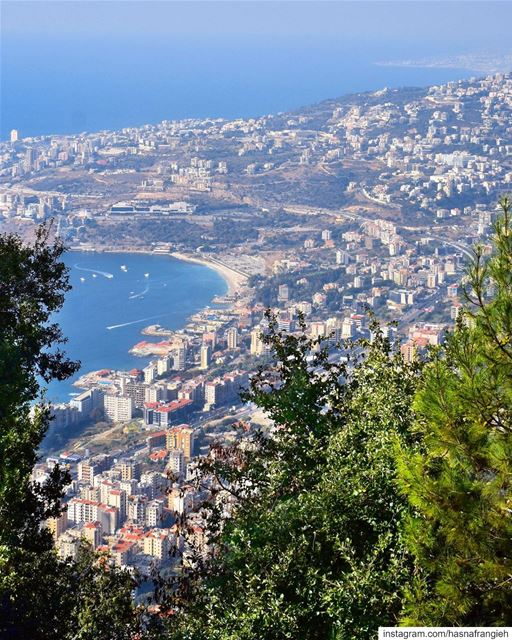 There is something so special about  Jounieh , the sea, the mountains &... (The Lady of Lebanon - Harissa)