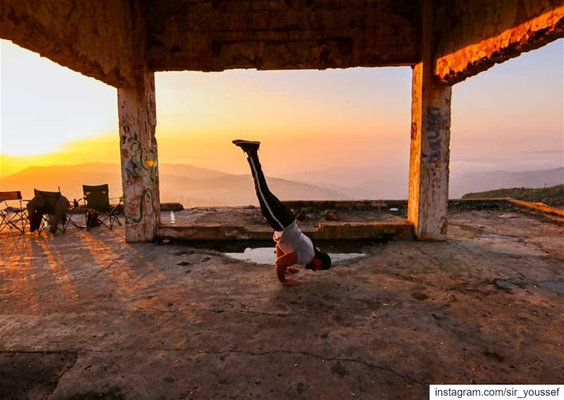 Catching the Sunset with an Arm Stand !! We are all human beings, and we...