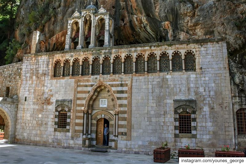 This is the facade of the church of Mar Antonios Kozhaya in North Lebanon....