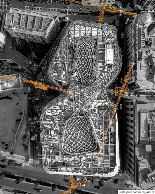 Eight 8⃣🚧Under construction 🚧 ... architecture  zahahadid  beirut ... (Beirut Souks)