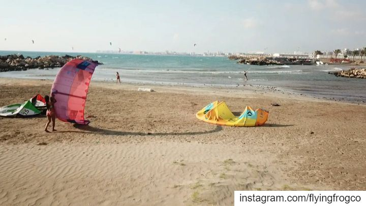 Always wanted to do it?Now you can Kitesurfing a dream feeling...... (Lebanon)