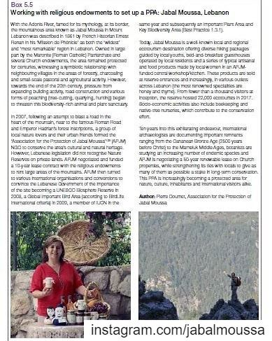 "Happy Reading-An article published in IUCN's ""Best Practice Protected... (Jabal Moussa Biosphere Reserve)"
