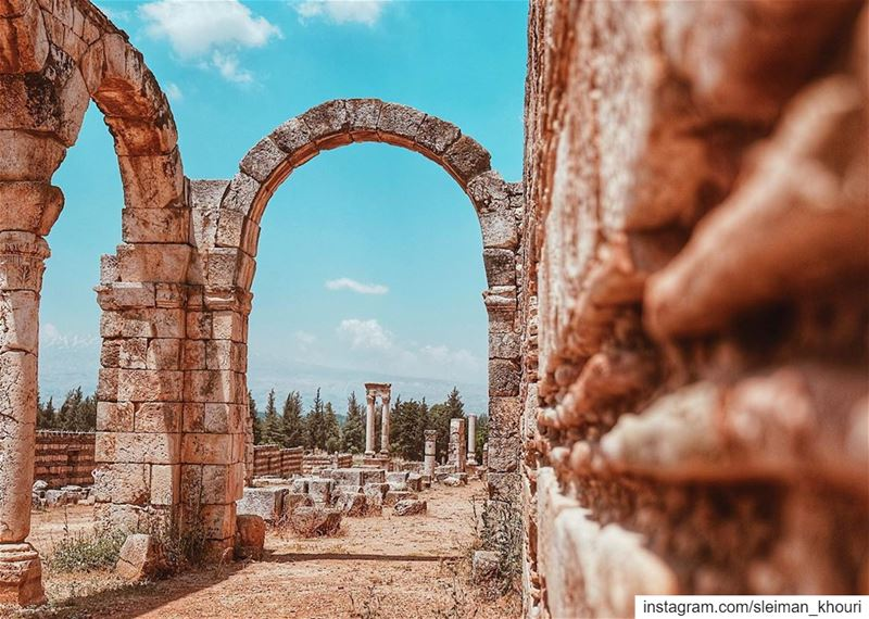 The city of Anjar was founded at the beginning of the 8th century 🇱🇧•••• (`Anjar, Béqaa, Lebanon)