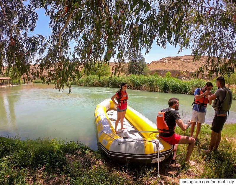 🚣‍♀🚣 by @antons210 assiriver  fun  holiday  hermel  hermel_city ... (Al Assi River-Hermel, Lebanon)