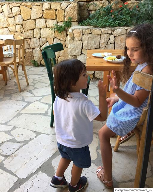 lebanon  bekaa  cousins  highfive  love  reunited  family  sunday  lunch ... (Qabb Ilyas, Béqaa, Lebanon)