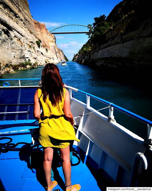 Would you sail?! 🇬🇷--- Passion  Love  quotes  livethemoment  ... (Corinth Canal)