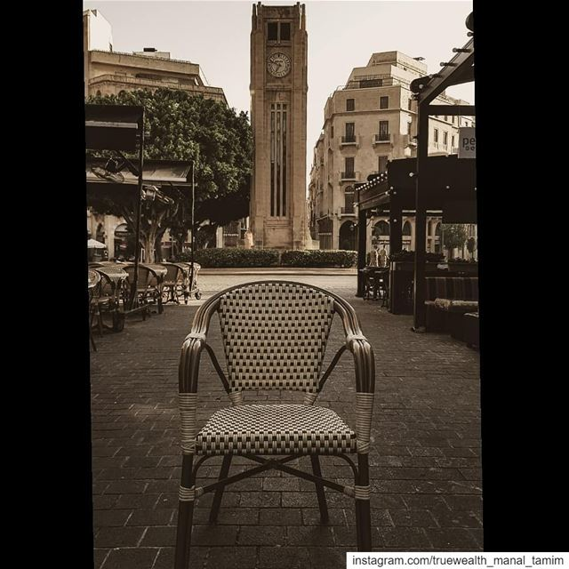 Maybe the Chair needs to be empty for my Beirut to be full° 📍 ......... (ساحة النجمة)