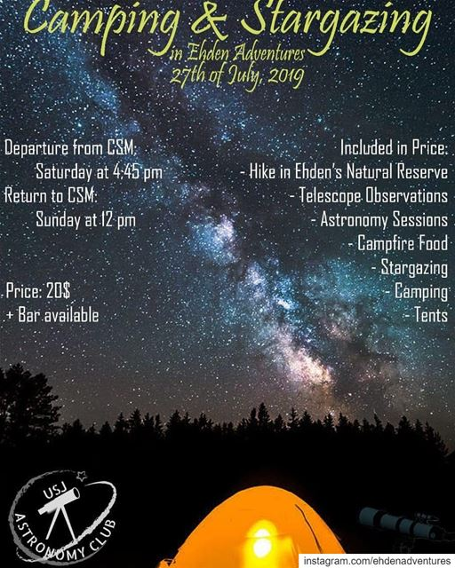 hiking  caping  stargazing  telescope  campfire  ehdennaturereserve  usj ... (Ehden Adventures)