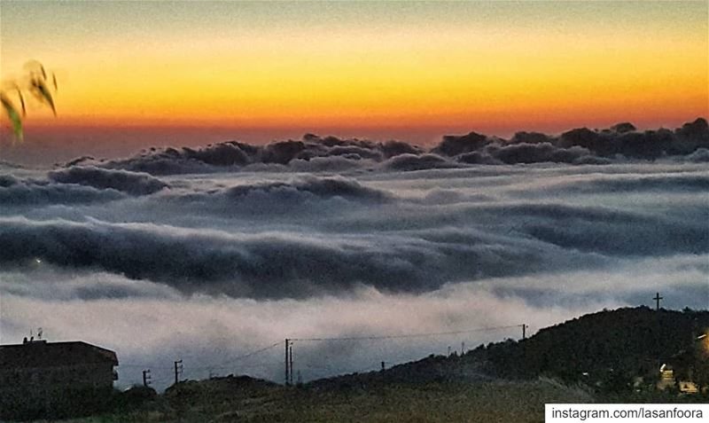 When Heaven meets Earth. lebanoninapicture  sunsetlover  insta_lebanon ... (Mount Lebanon Governorate)