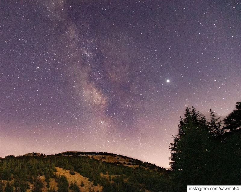 The Milky Way in our sky....... barouk  cedars  astrophotography ... (Al Shouf Cedar Nature Reserve)