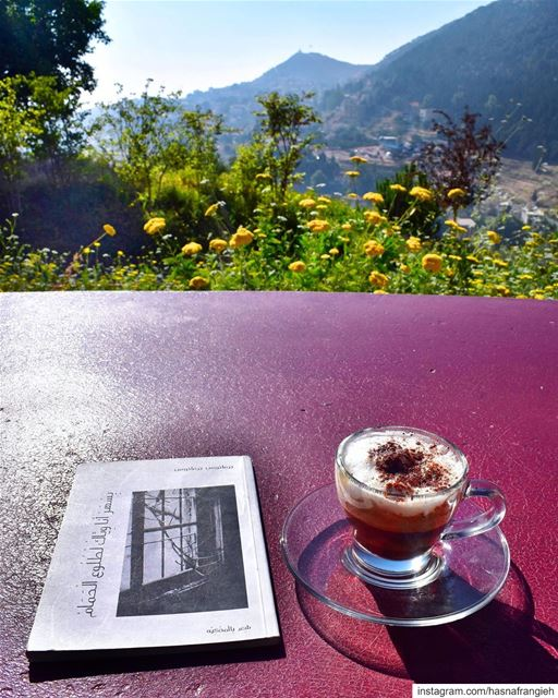 A beautiful book, a special coffee & an amazing view 😍 I Love this ... (MIST Hotel & Spa)