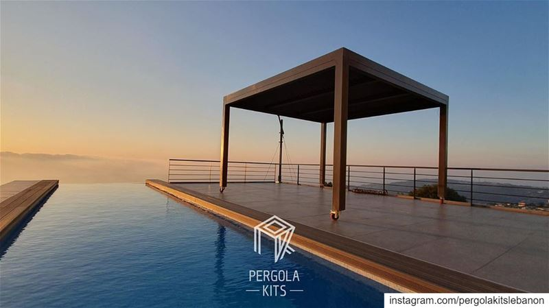 Wheel Steel Pergola. Swipe For Details➡️  PergolaKitsLebanon in Batroun📍... (Batroun Mountain)