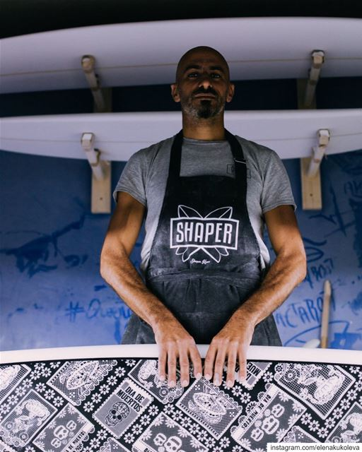 "Meet Paul - @p_a_surfboardsThe person behind all the ""made in Lebanon""... (P.A. Surfboards)"