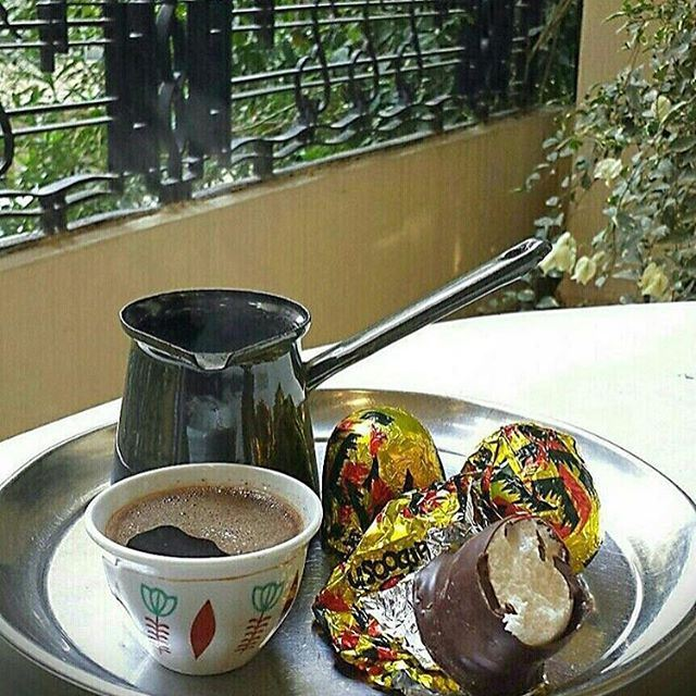 Good Morning Lebanon with my best 2 items in the morning, Lebanese coffee with Ras Aabed or Tarbouch