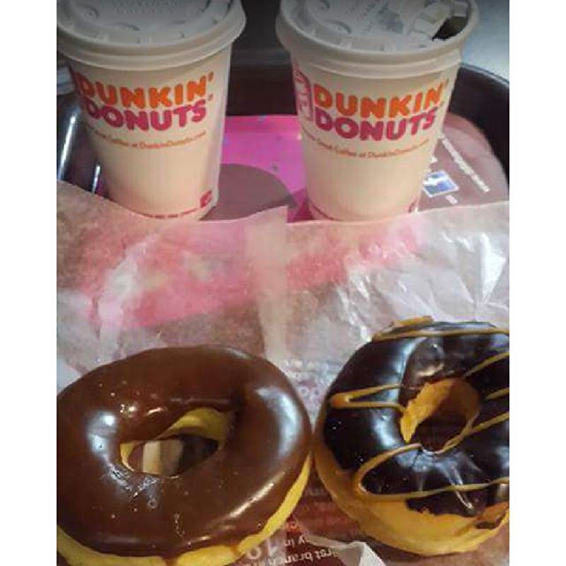 A cup of Coffee shared with a friend @ddlebanon is Happiness tasted and time well spent  (Dunkin Donuts Jbeil)