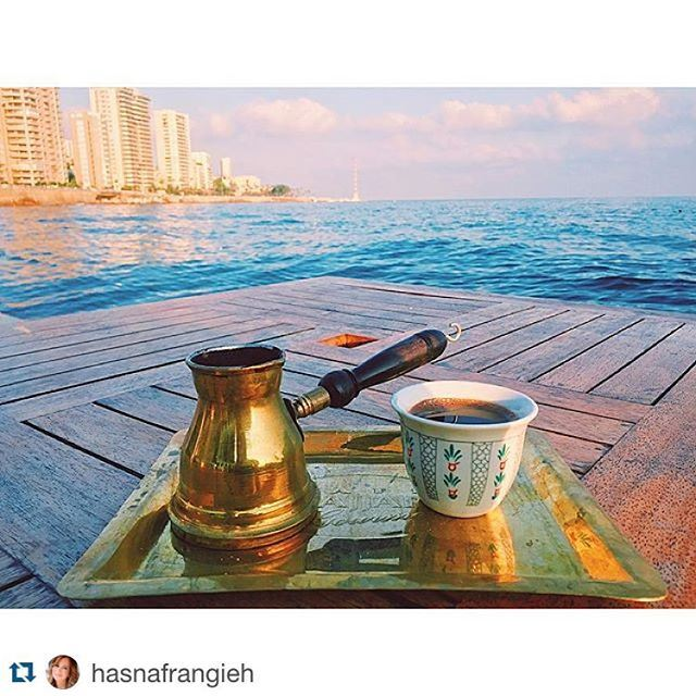 What better than Lebanese aroma coffee and Mediterranean!!!! Live the experience....