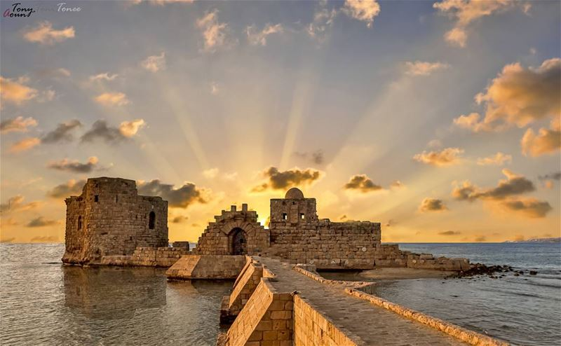 Saida Castle at Sunset